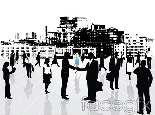Metropolitan business elite people white collar vector
