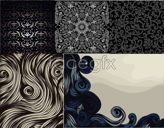Retro pattern background winding pattern vector