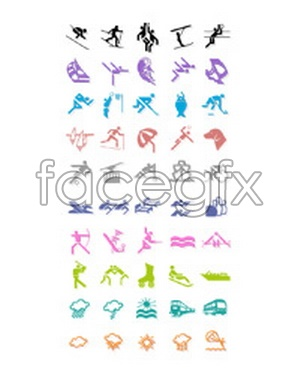 Second Beijing Olympic vector icon project