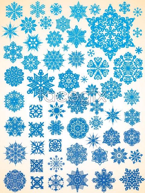 Snowflake Christmas vector