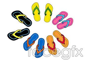 Summer flip-flops vector