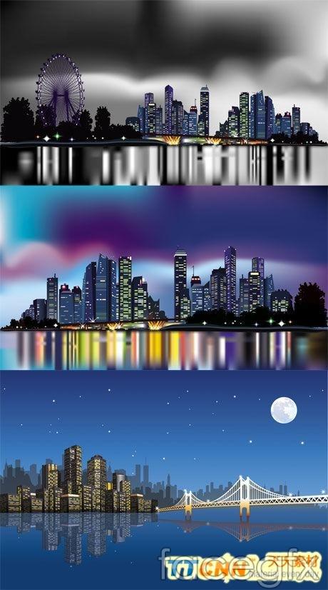 Urban dark neon vector illustration