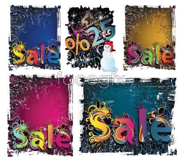 Winter discount sale vector