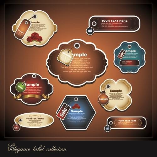 Elements of Elegance label vector set 01