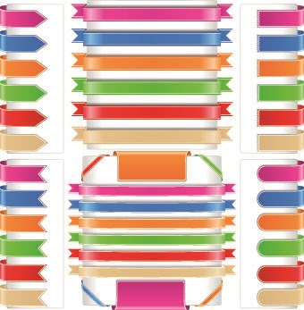 Different colored Ribbon vector