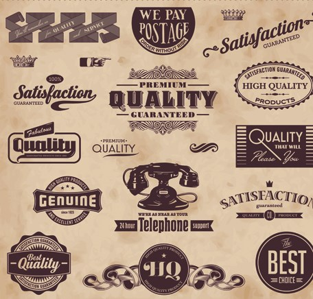 Retro of Creative labels design vector set