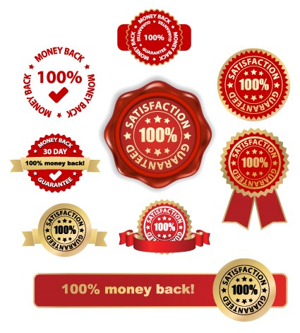 Set of Wax Seal And Award design elements vector 02
