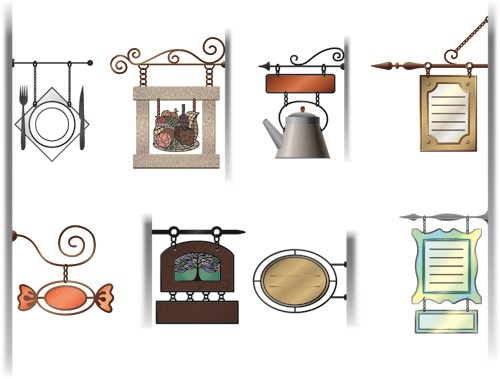 Various cafe Signs vector  set 01