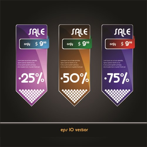 Online Store Discount labels vector 03