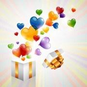 Color Heart balloons vector 05