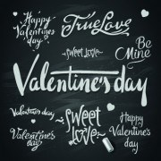 Happy Valentines Day text elements vector 02