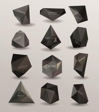 3D Origami Speech Bubbles vector 01