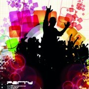 Music party poster vector illustration 05