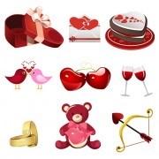 Valentine creative ornaments design vectors