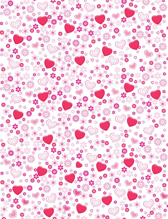 Valentines Day Romantic ornaments vector 02