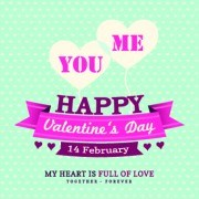 Happy Valentines Day Background Vintage Style Vector 01
