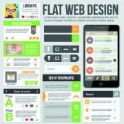 Phone website template vector set 02