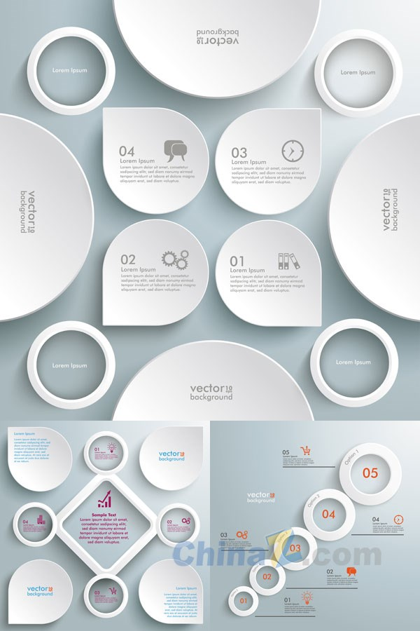 White creative infographic vector
