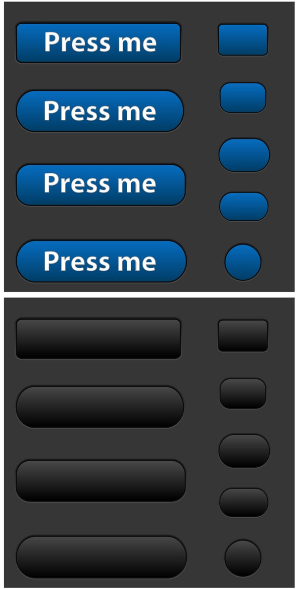 Push Buttons Vectors