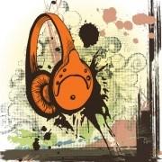 Creative vintage music background vector set 05