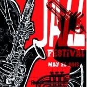 Jazz poster publicize template vector 05