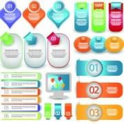 Creative web labels design elements vector 02