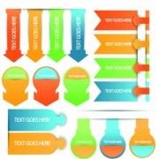 Creative web labels design elements vector 04