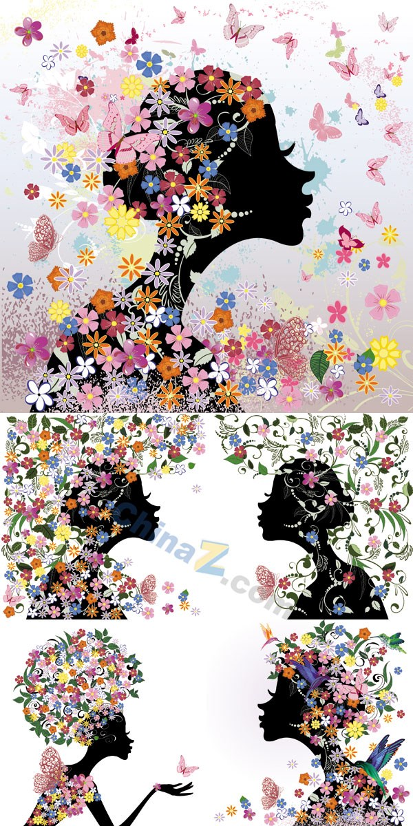 Abstract Butterfly girl vector