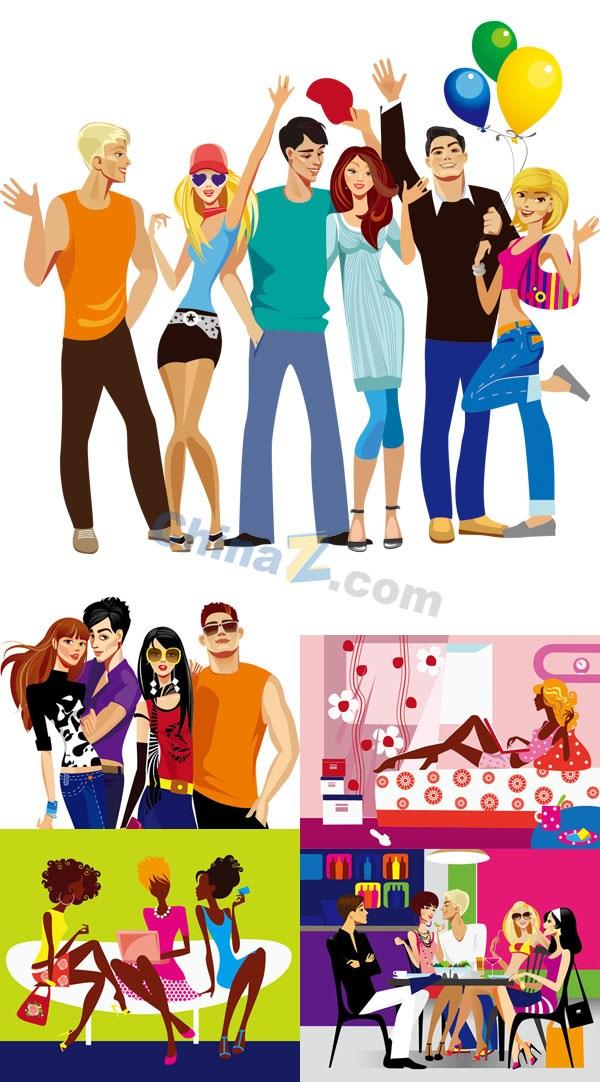 Fashion illustrator vector diagrams