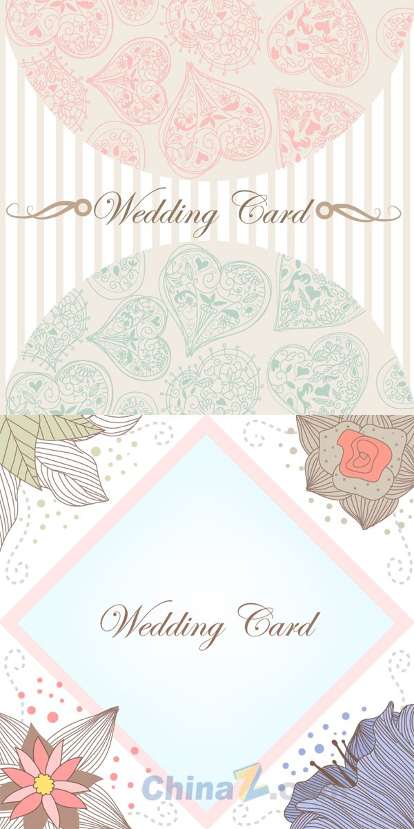 Wedding invitation card vector design