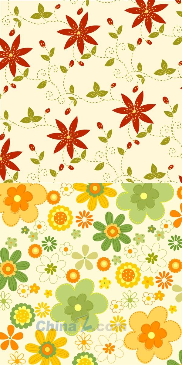 Beautiful patterned wallpaper vector