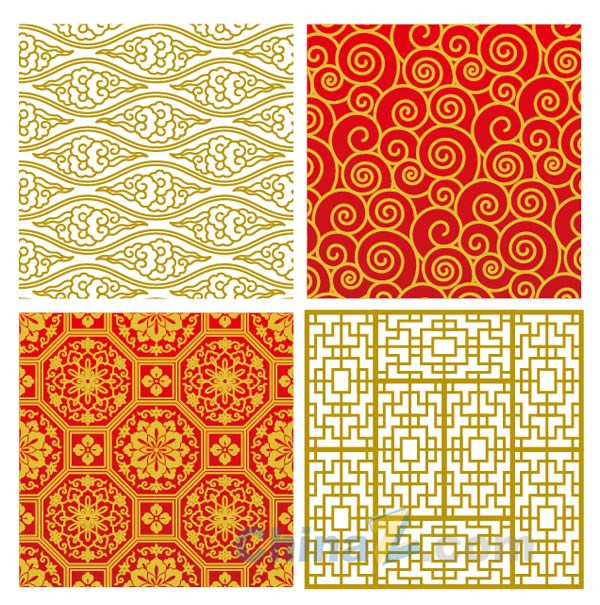 Chinese-style pattern vector style