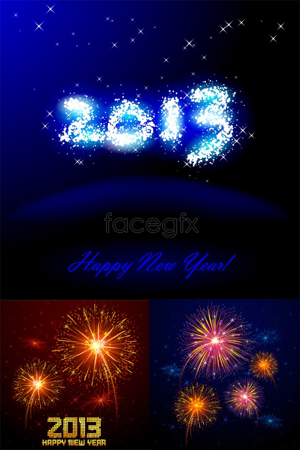 2013 a bright new year Vector