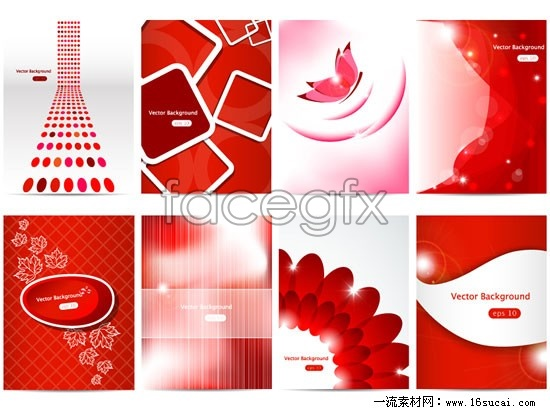 8 red joyous background vector