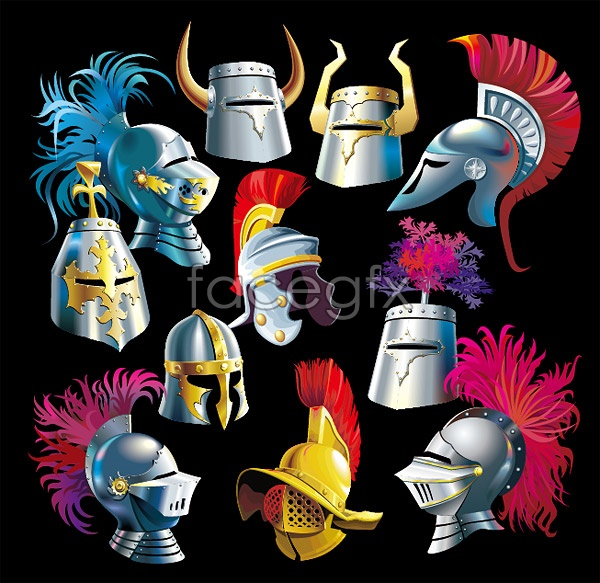 Ancient Knight helmet Vector