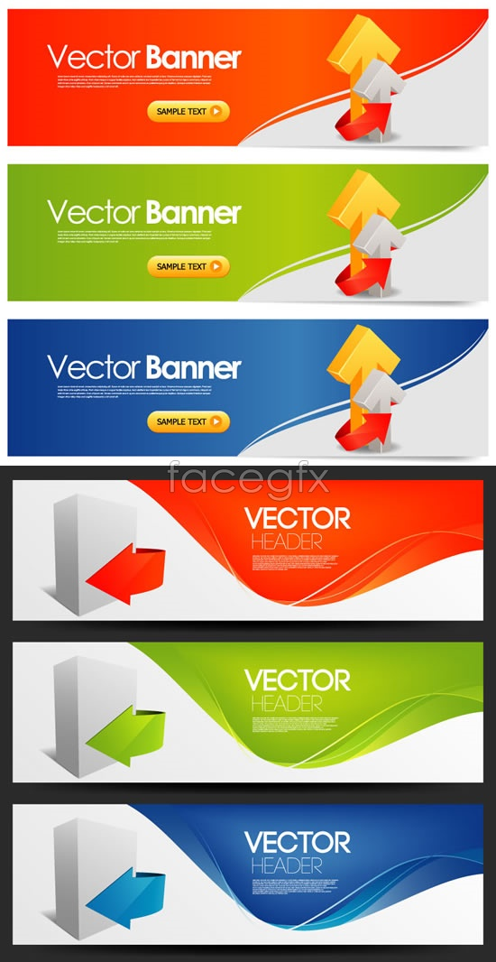 Arrow line BANNER Vector
