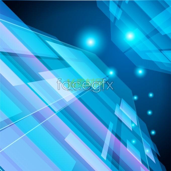 Blue motion technology background