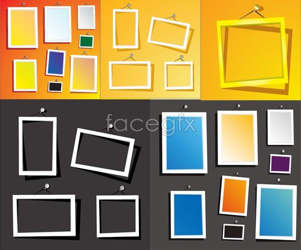 Bright frame vector