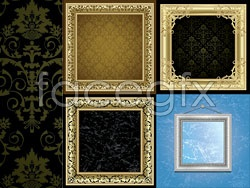 Classic vintage photo frames Vector