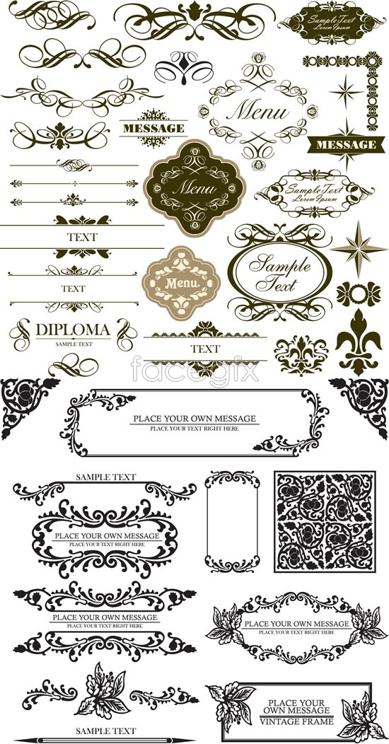 Classical decorative pattern lace Vector