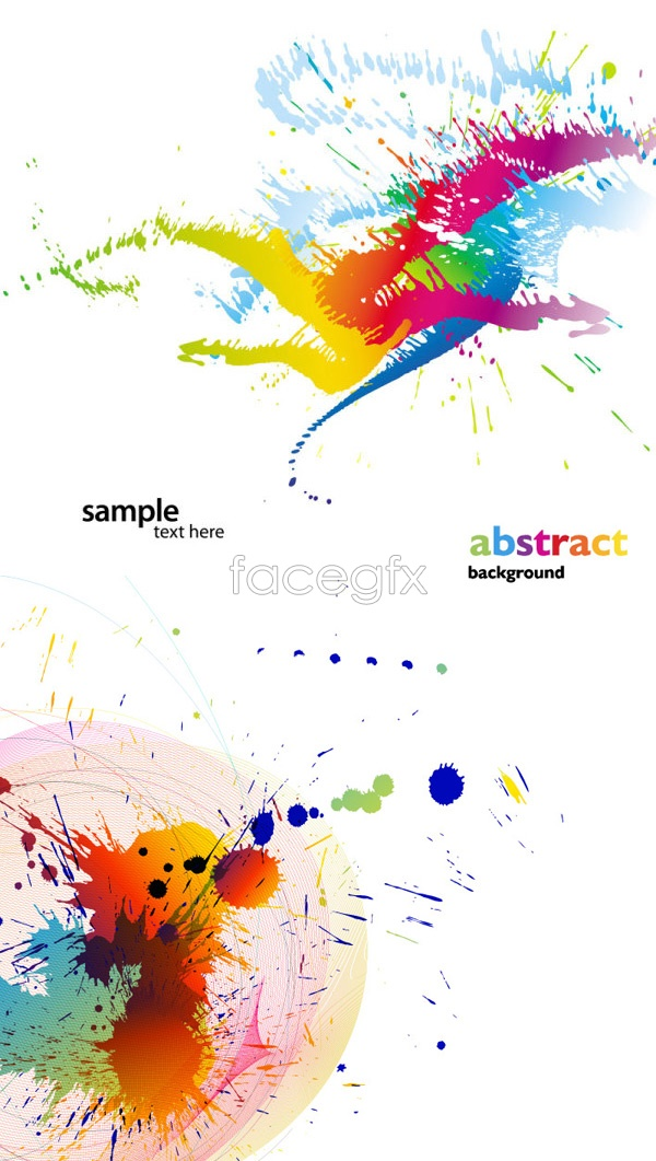 Colored paint 2 Vector