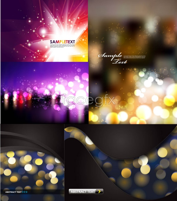 Colorful background designs Vector