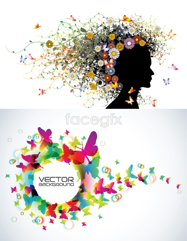 Colorful Butterfly creative Vector