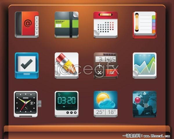 Common items icon vector II