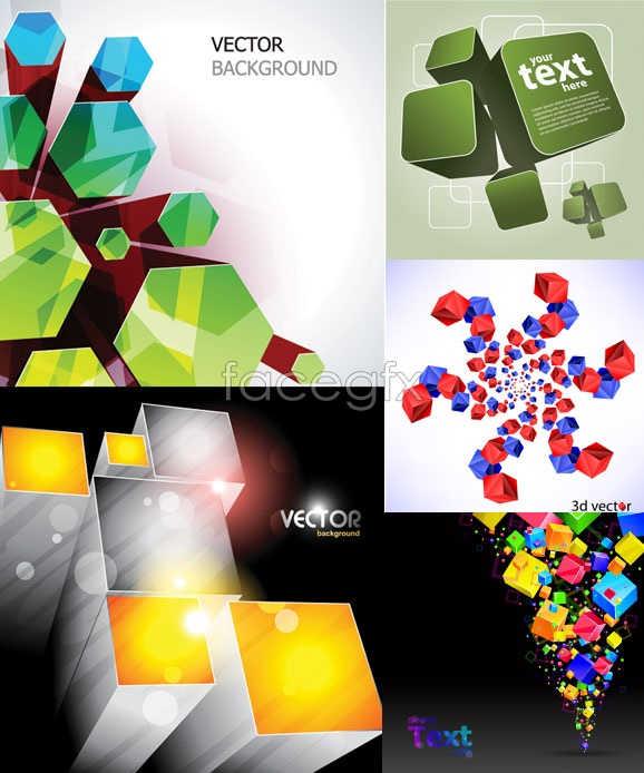 Cool cube background Vector
