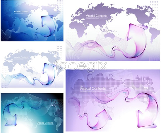 Creative arrows the map background Vector