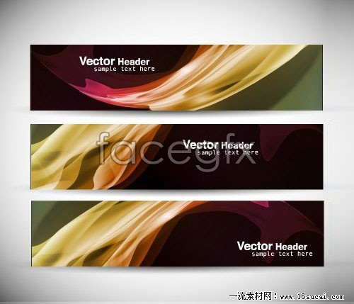 Dynamic banner banner background vector