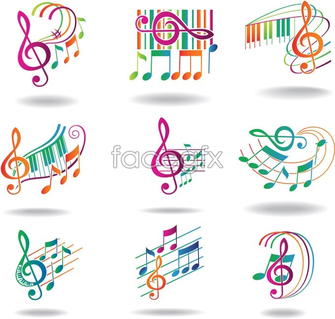 Dynamic notes free  vector