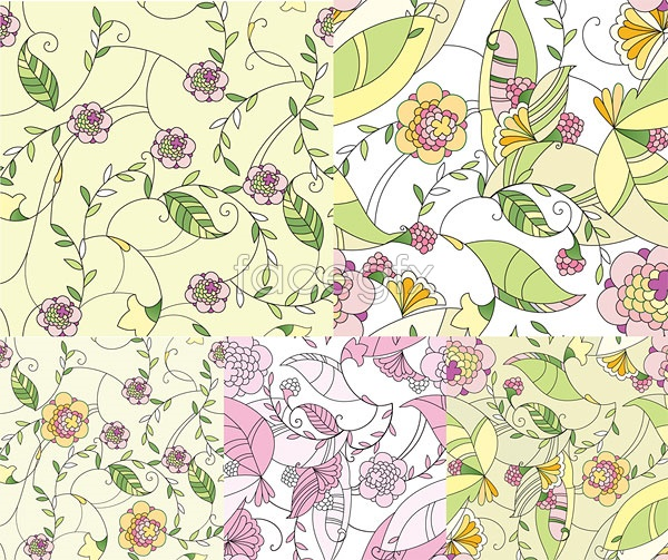 Fashion hand-painted floral design Vector