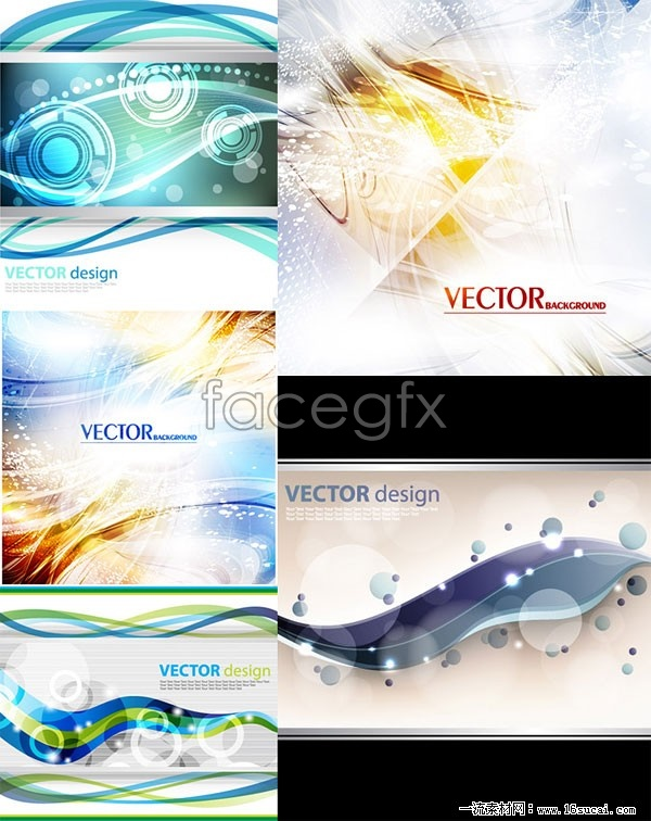 Four Symphony of motion vector background